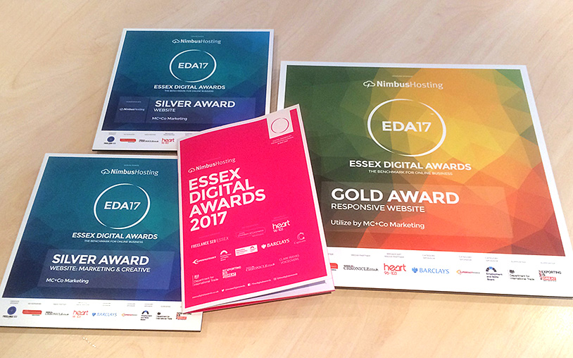 Another successful year with 3 wins for MC+Co at The Digital Awards 2017