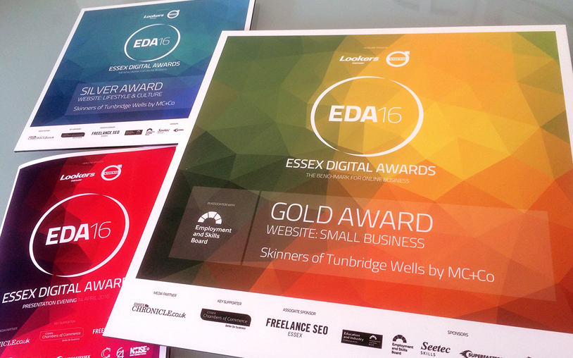 MC+Co Gold and Silver Success at Essex Digital Awards